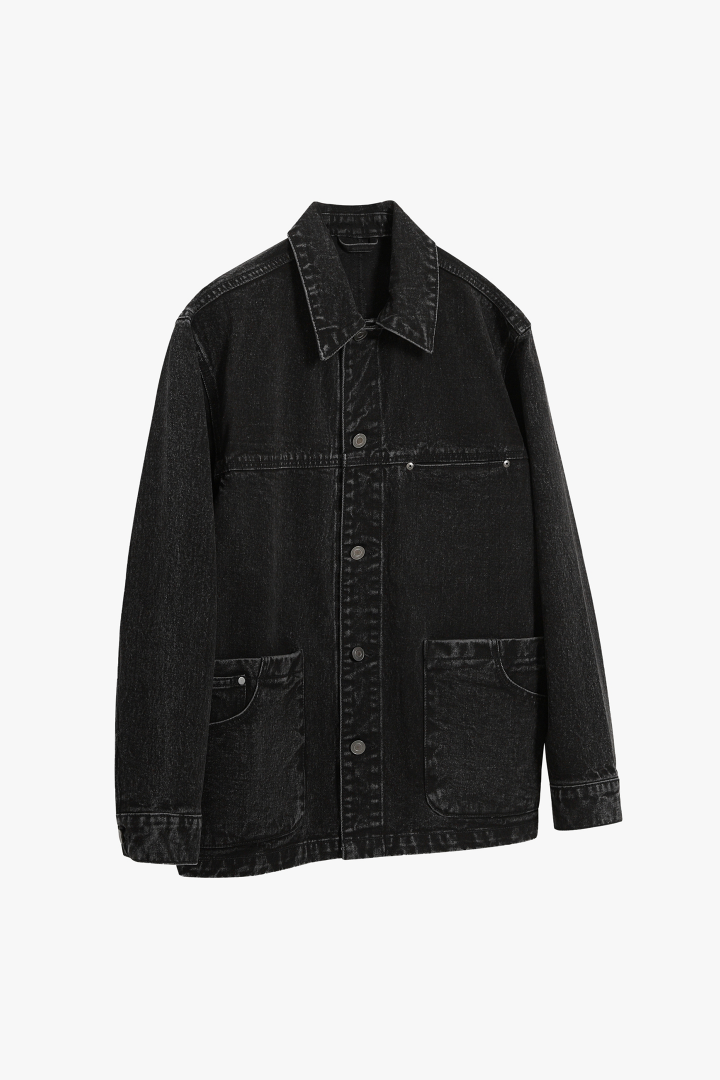 Chore Denim Trucker Jacket - Black Washed