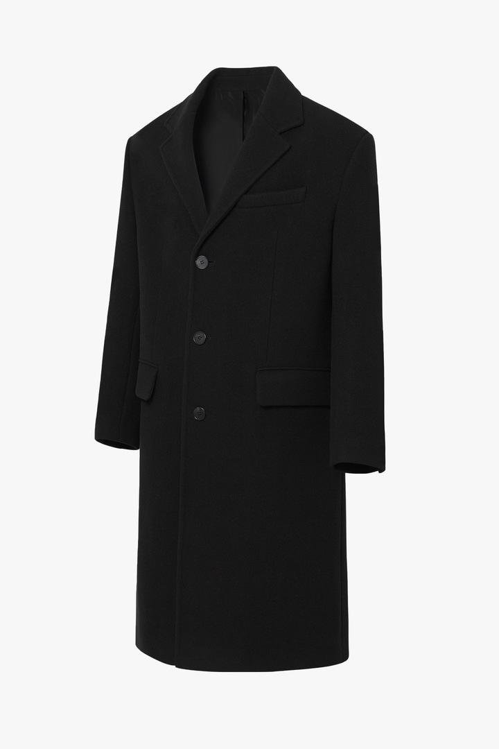 Cashmere Single Coat - Black