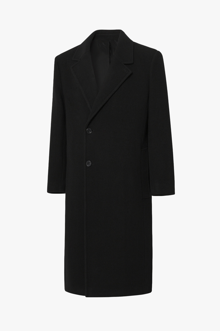Cashmere Half Double Coat - Black