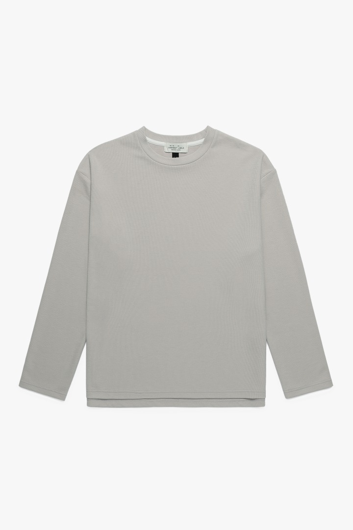 Knit Long Sleeve Tee - Sand Beige