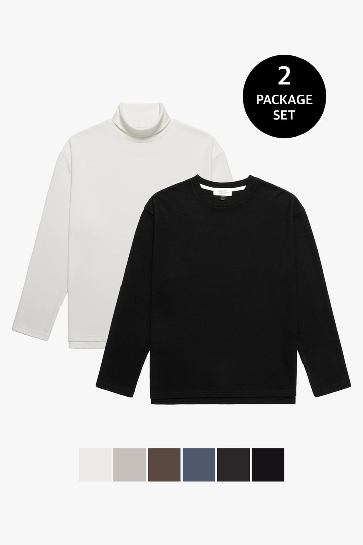 [1+1][교차선택가능] Knit Long Sleeve Package