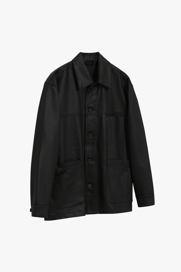 Chore Denim Trucker Jacket - Black Coating