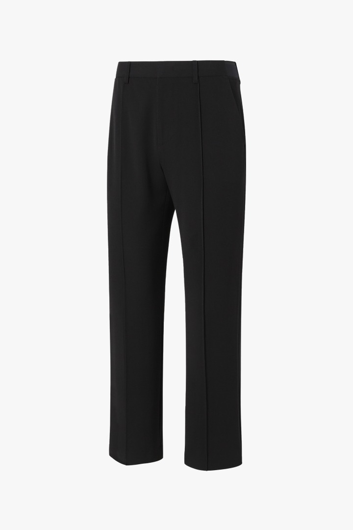 Banding Flare Slacks - Black