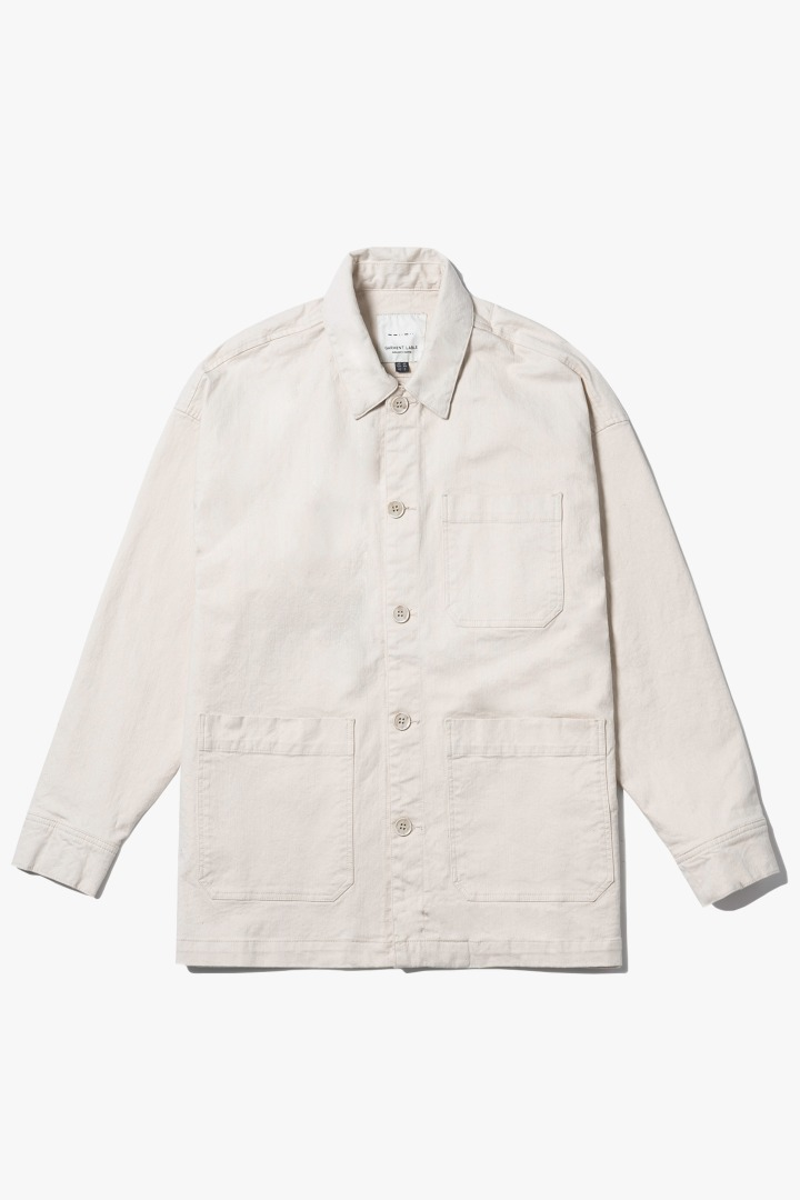 Natural Pocket Jacket - Ivory