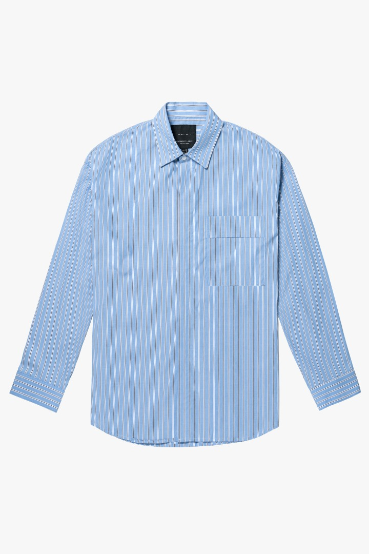 Addition Over Stripe Shirt - Blue