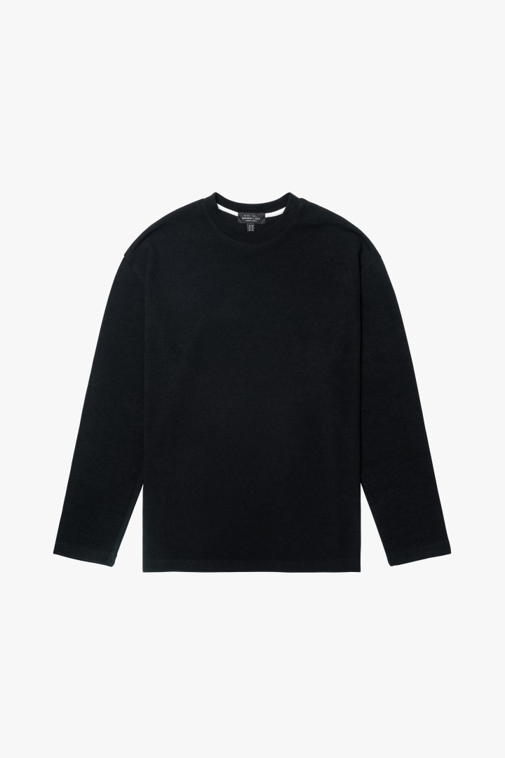 Knit Long Sleeve Tee - Black