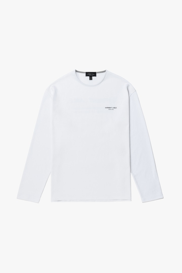 Logo Long Sleeve Tee - White