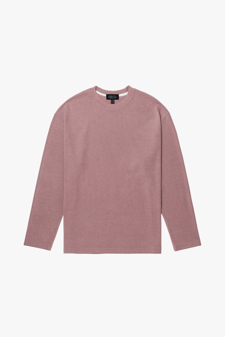 Knit Long Sleeve Tee - Dusty Pink