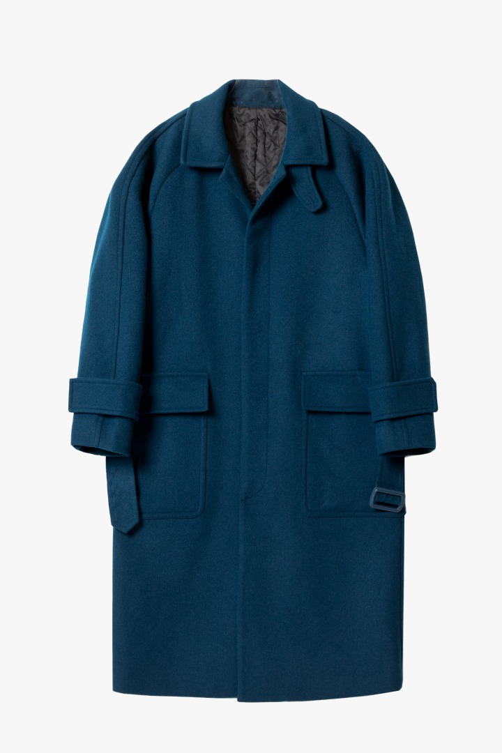 Over Mac Coat - Blue Green