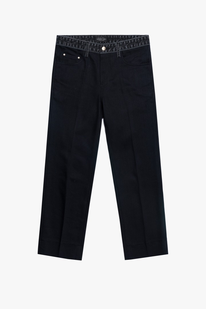 [2/28 예약배송] GL Stitch Jeans - Man In Black / Tapered