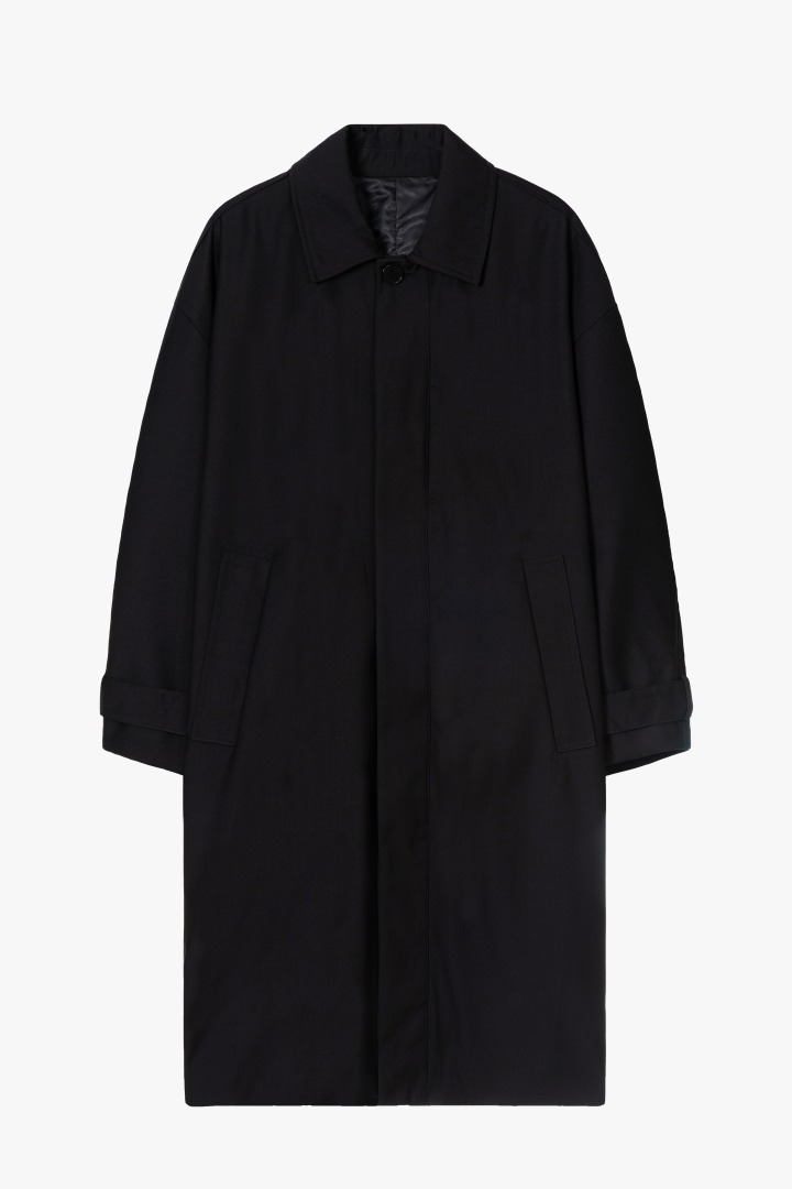 Drape Balmacaan Coat / Semi Over
