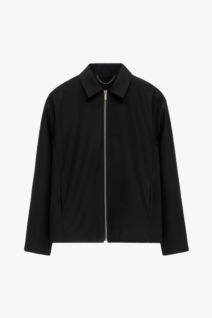 Minimal Zipper Jacket - Black