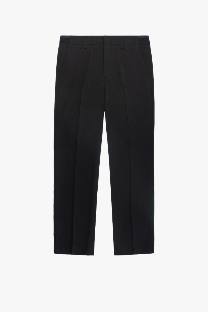 Banding Semi Wide Slacks - Black