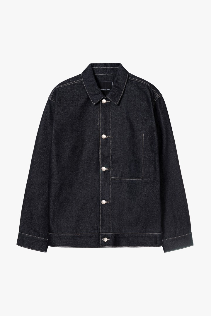Minimal Trucker Jacket - Deep Blue