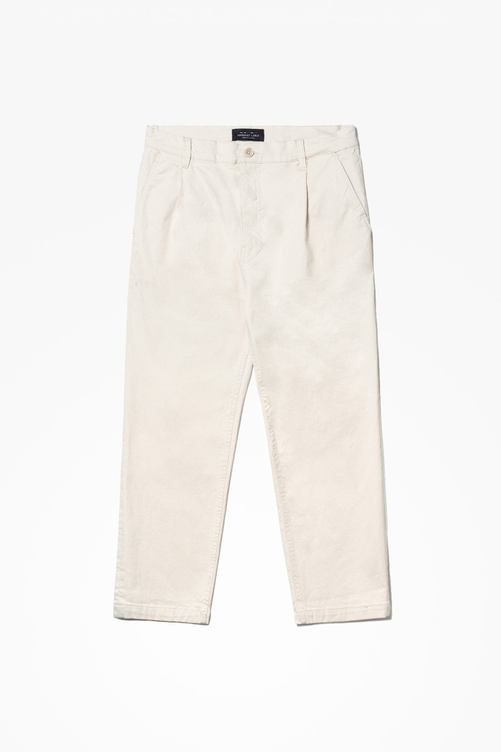 Natural Wide Pants - Ivory
