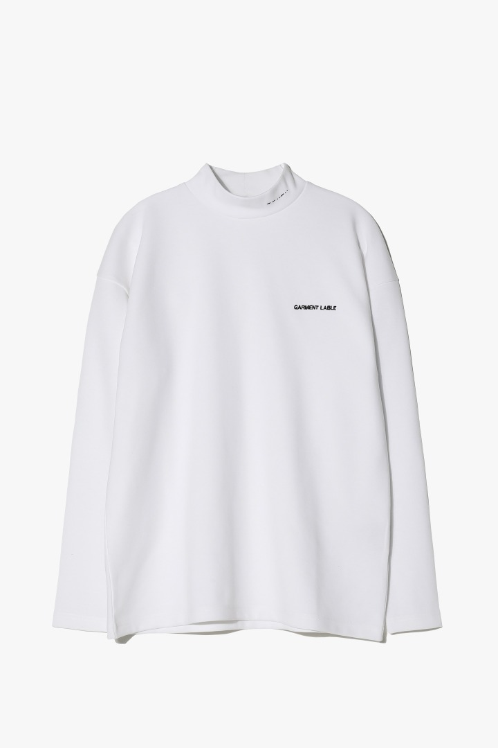 Halfneck Long Sleeve Tee - White