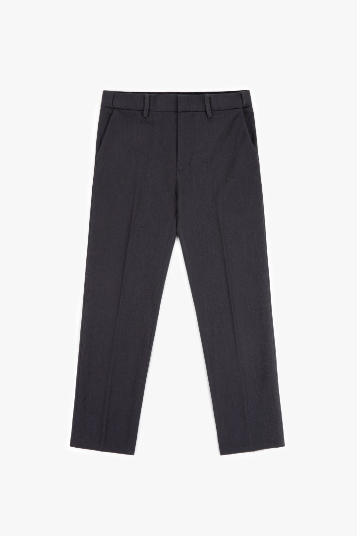 Hidden Banding Slacks - Charcoal