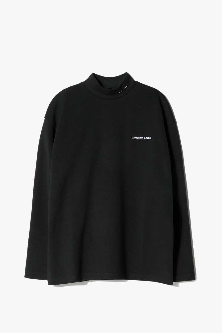 Halfneck Long Sleeve Tee - Black