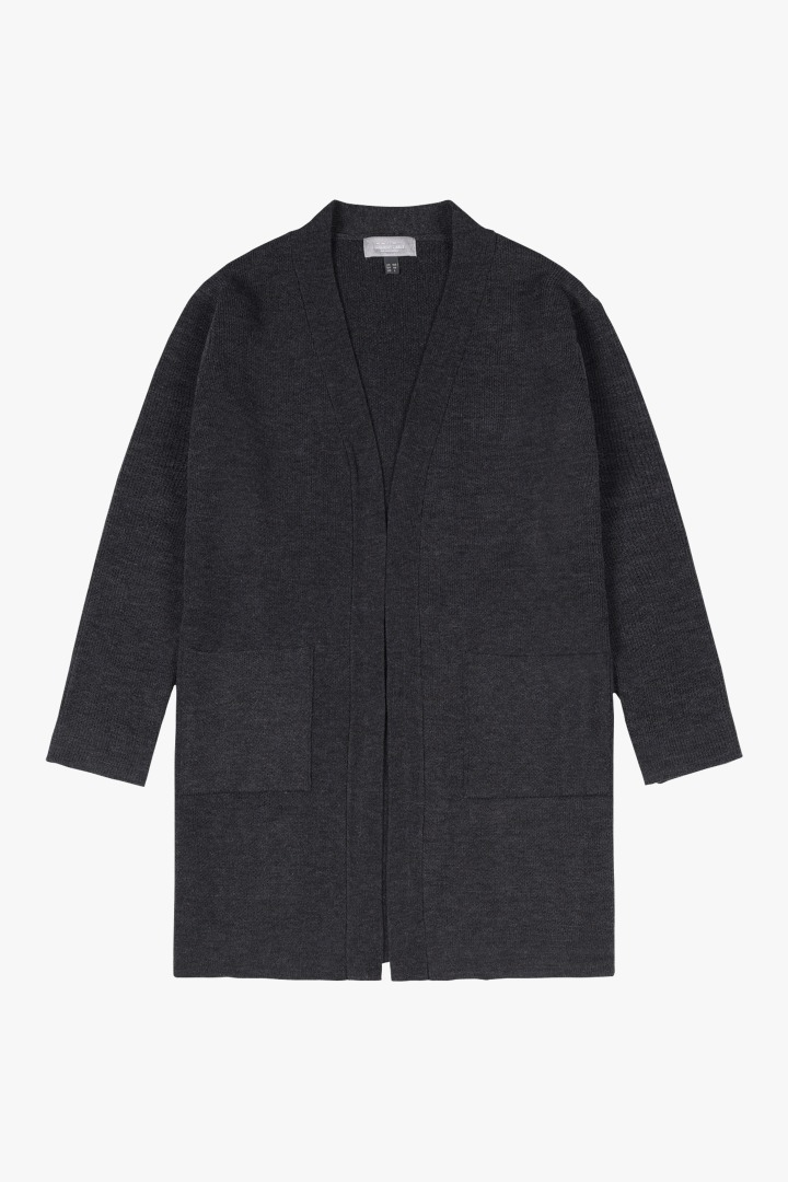 Basic Knit Cardigan - Charcoal