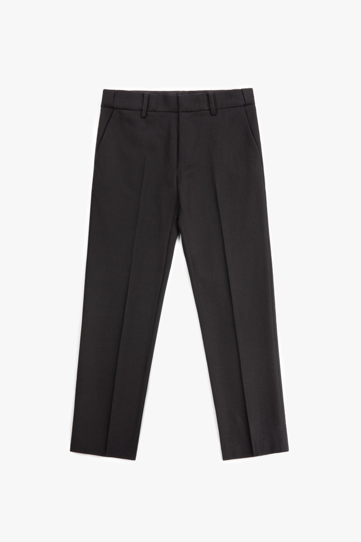 Hidden Banding Slacks - Black
