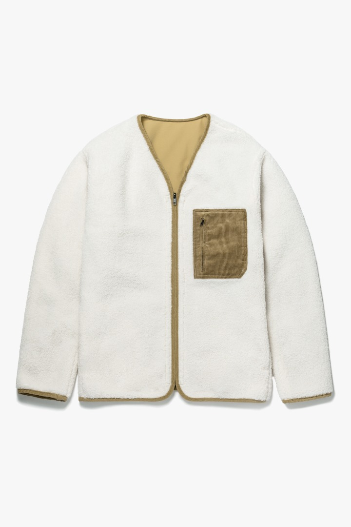 Reversible Boa Fleece Jacket - Ivory