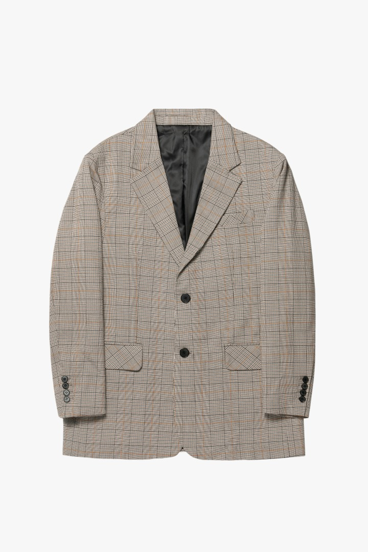 GL New Daddy Jacket - Glen Check