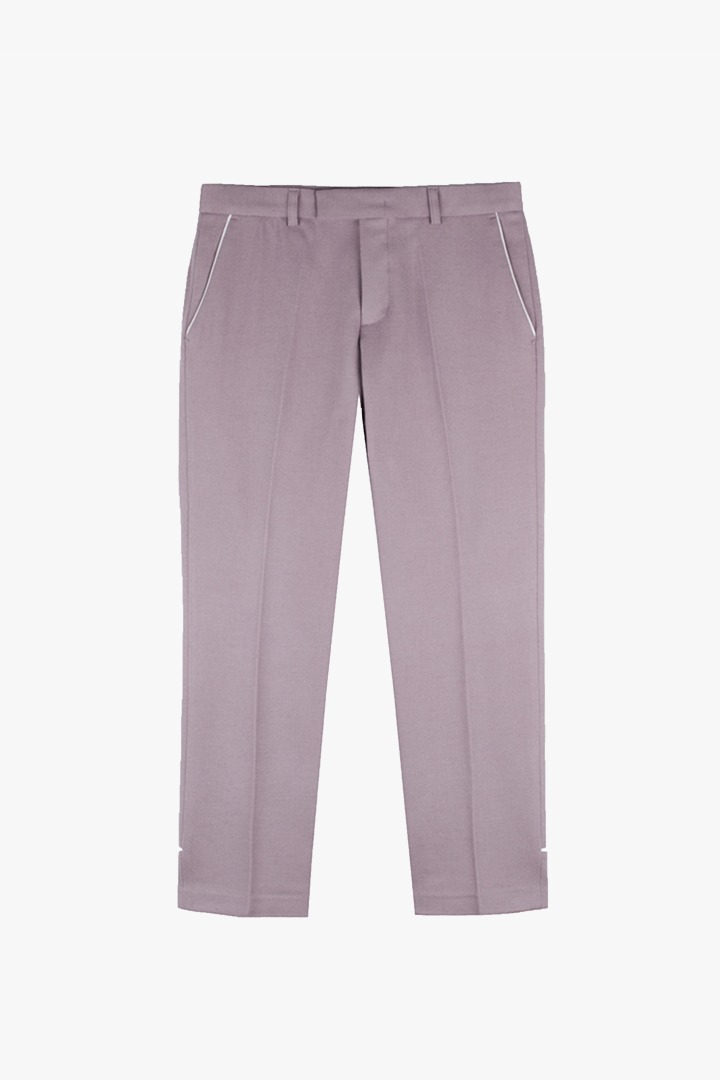 Piping Crop Slacks - Dusty Pink