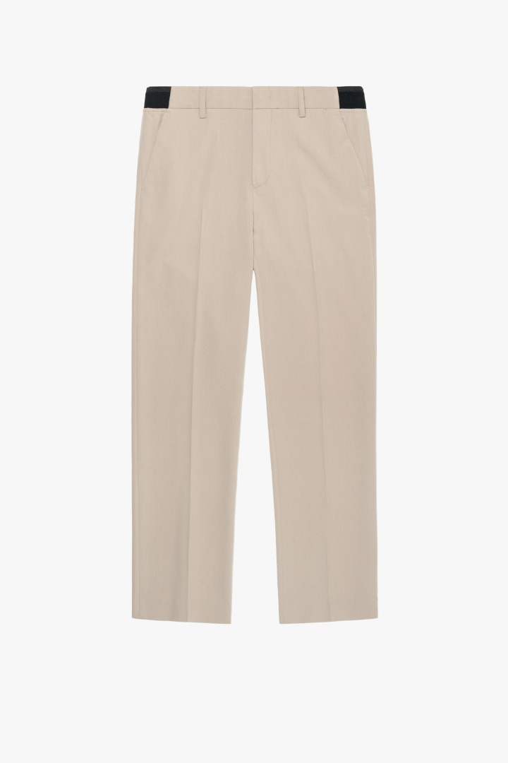 Banding Semi Wide Slacks - Beige