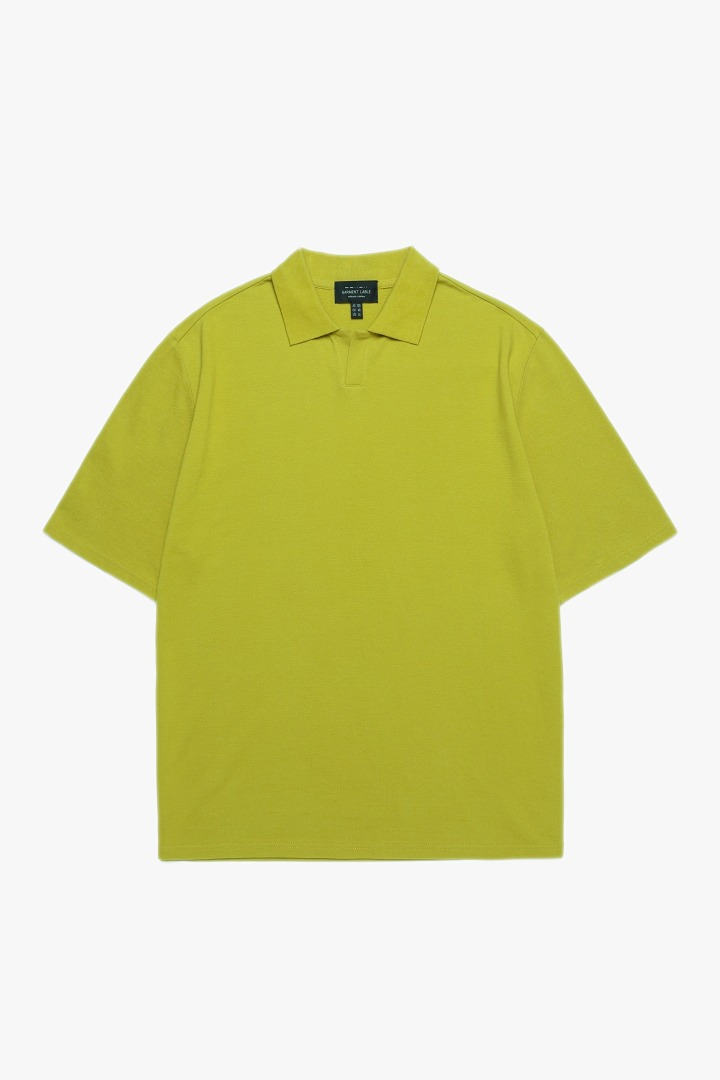 Pique Collar T-shirt - Avocado