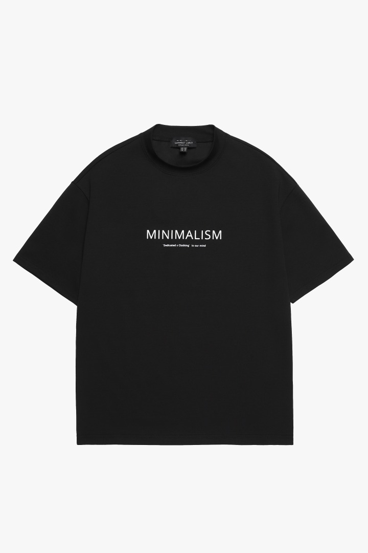 Halfneck Short Sleeve Tee - Black