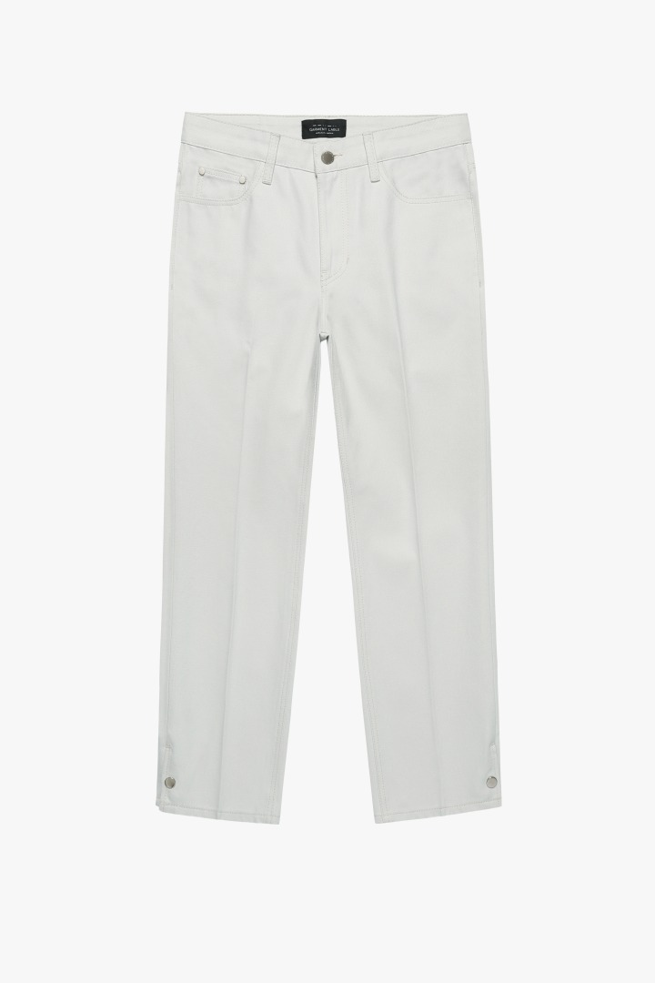 GL Snap Pants-Cream Gray