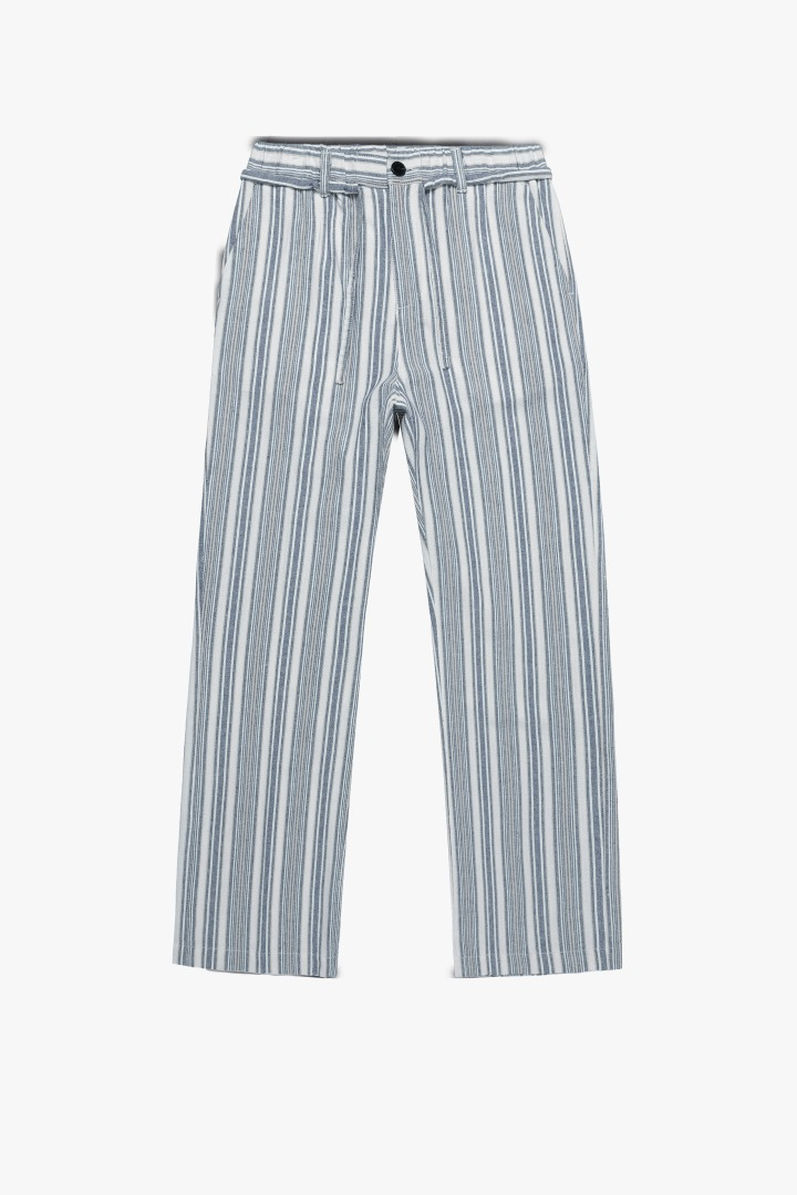 GL Pajamas Linen Pants-Blue