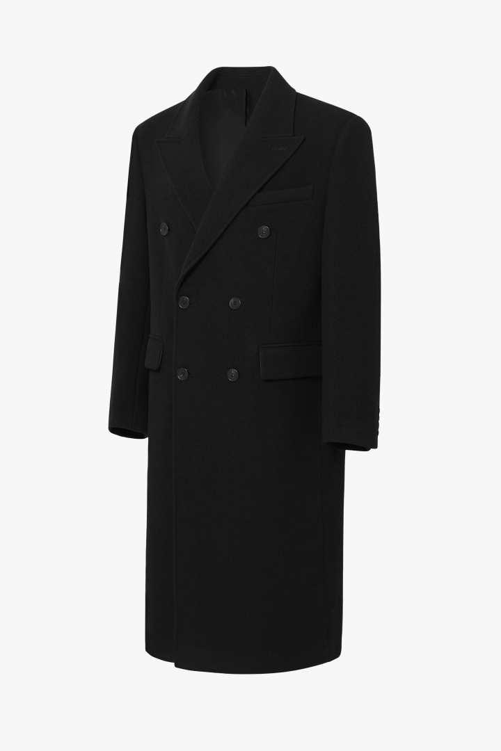 Cashmere Double Coat - Black