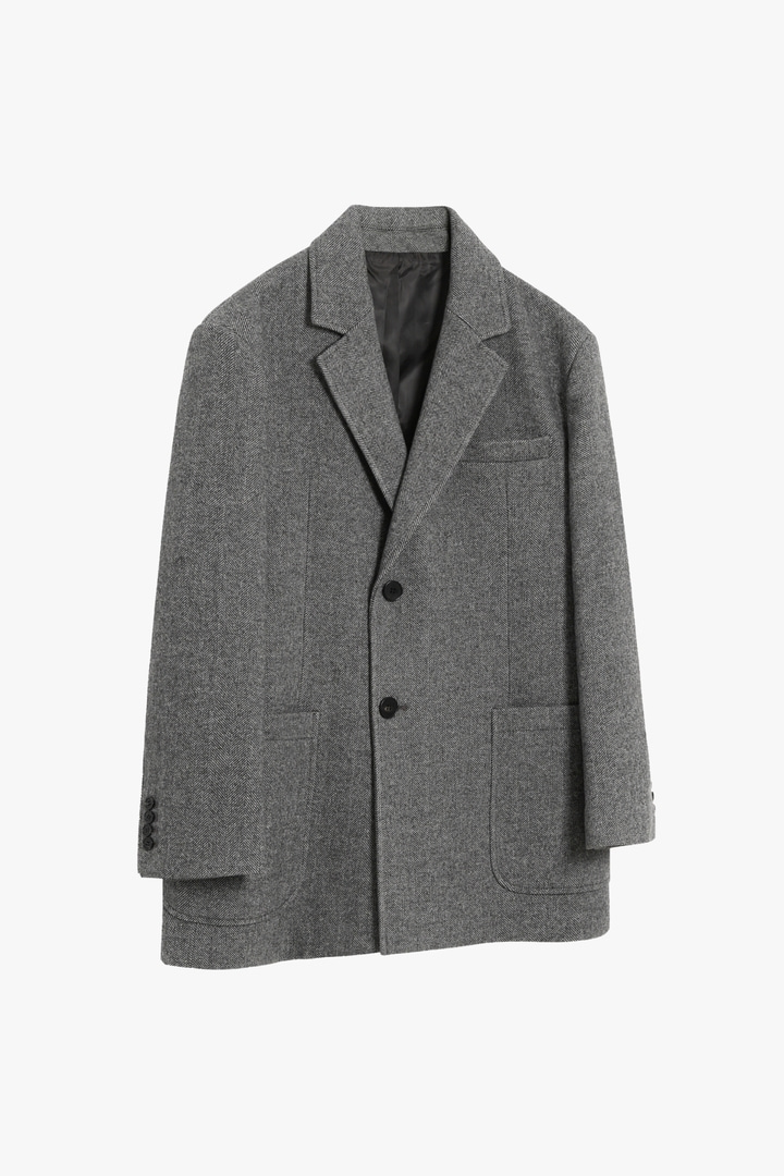 Herringbone Short Coat