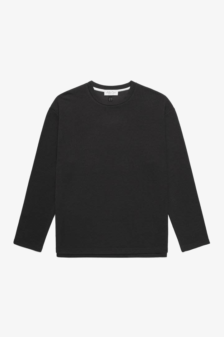 Knit Long Sleeve Tee - Charcoal