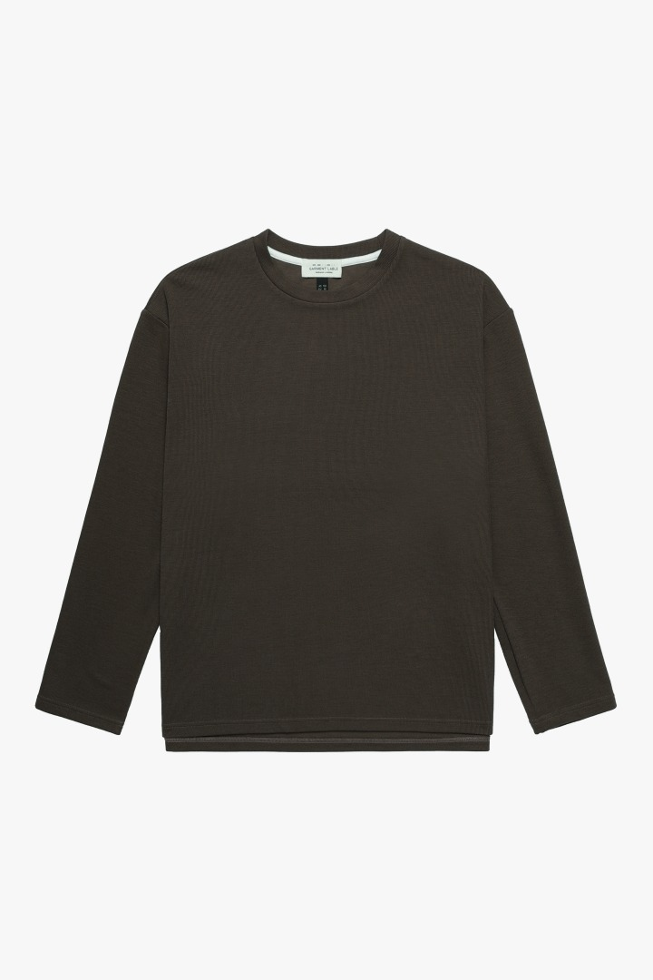 Knit Long Sleeve Tee - Brown